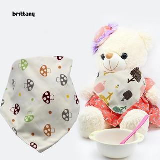 Yếm Ăn Cotton Họa Tiết Trái Tim / Chữ Cái Cho Bé