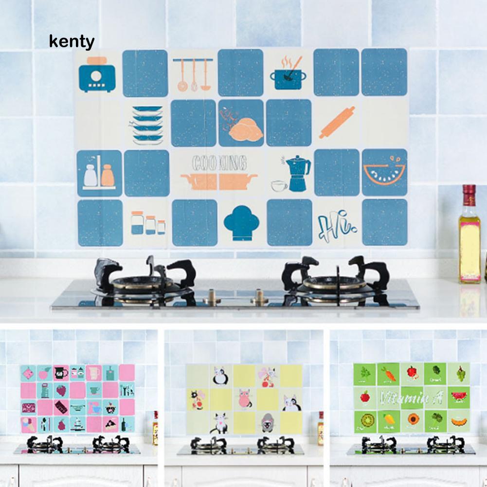 Miếng dán tường chống bám dầu/ thấm nước cho nhà bếp