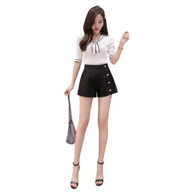 Quần short lưng cao ống rộng Size lớn thời trang trẻ trung