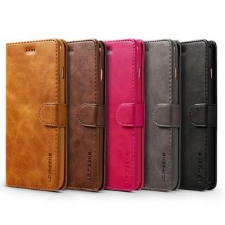 Bao da nắp gập màu trơn tích hợp ví đựng thẻ tiện dụng cho Apple iphone 7 Plus /8 Plus