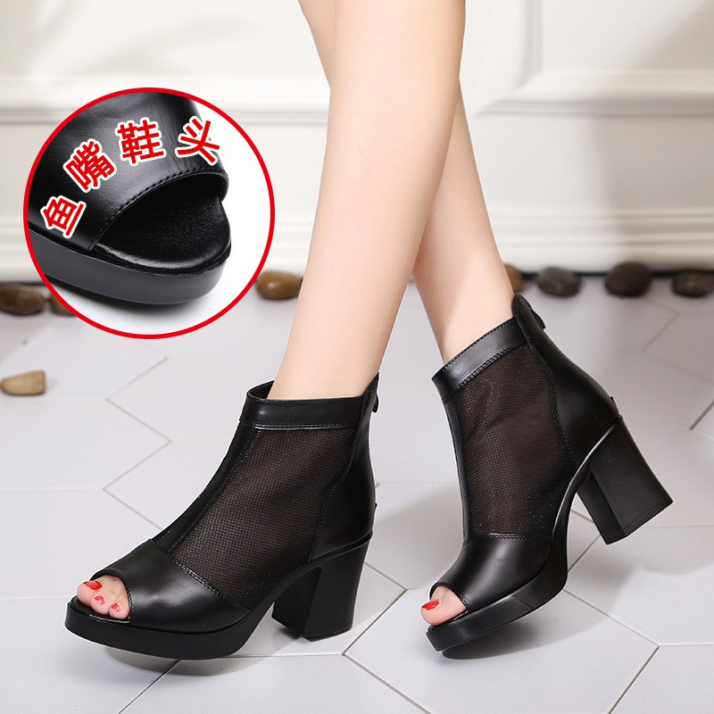 ﹊Summer half tall with hollow out sandals lady in the spring and autumn day long skirt coarse gauze net short boots sh - 14725243 , 2848474685 , 322_2848474685 , 1184000 , Summer-half-tall-with-hollow-out-sandals-lady-in-the-spring-and-autumn-day-long-skirt-coarse-gauze-net-short-boots-sh-322_2848474685 , shopee.vn , ﹊Summer half tall with hollow out sandals lady in th