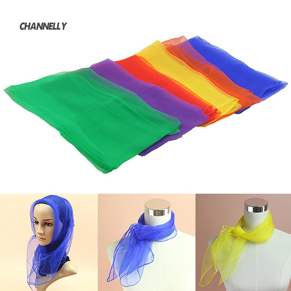 ■Cy 60cm Solid Color Square Juggling Dance Scarves Magic Tricks Props Kid Toy