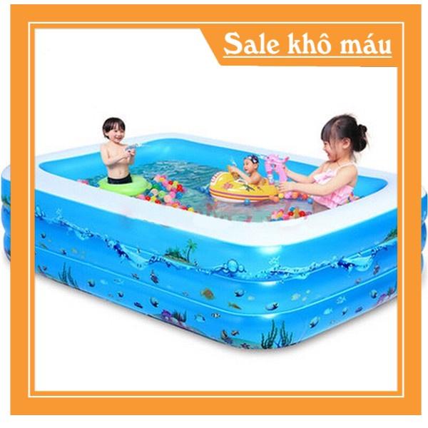 Combo bể bơi 2m1 siêu to- tặng kèm bơm điện