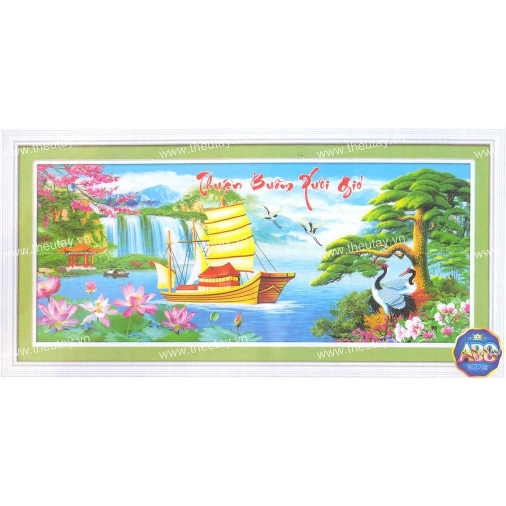 Tranh đính đá kim cương đa sắc ABC Thuận Buồm Xuôi Gió DF343