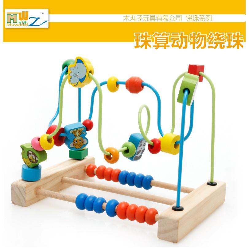 Bộ luồn hạt bàn tính bằng gỗ trí tuệ cho bé_Đồ chơi gỗSmartKids