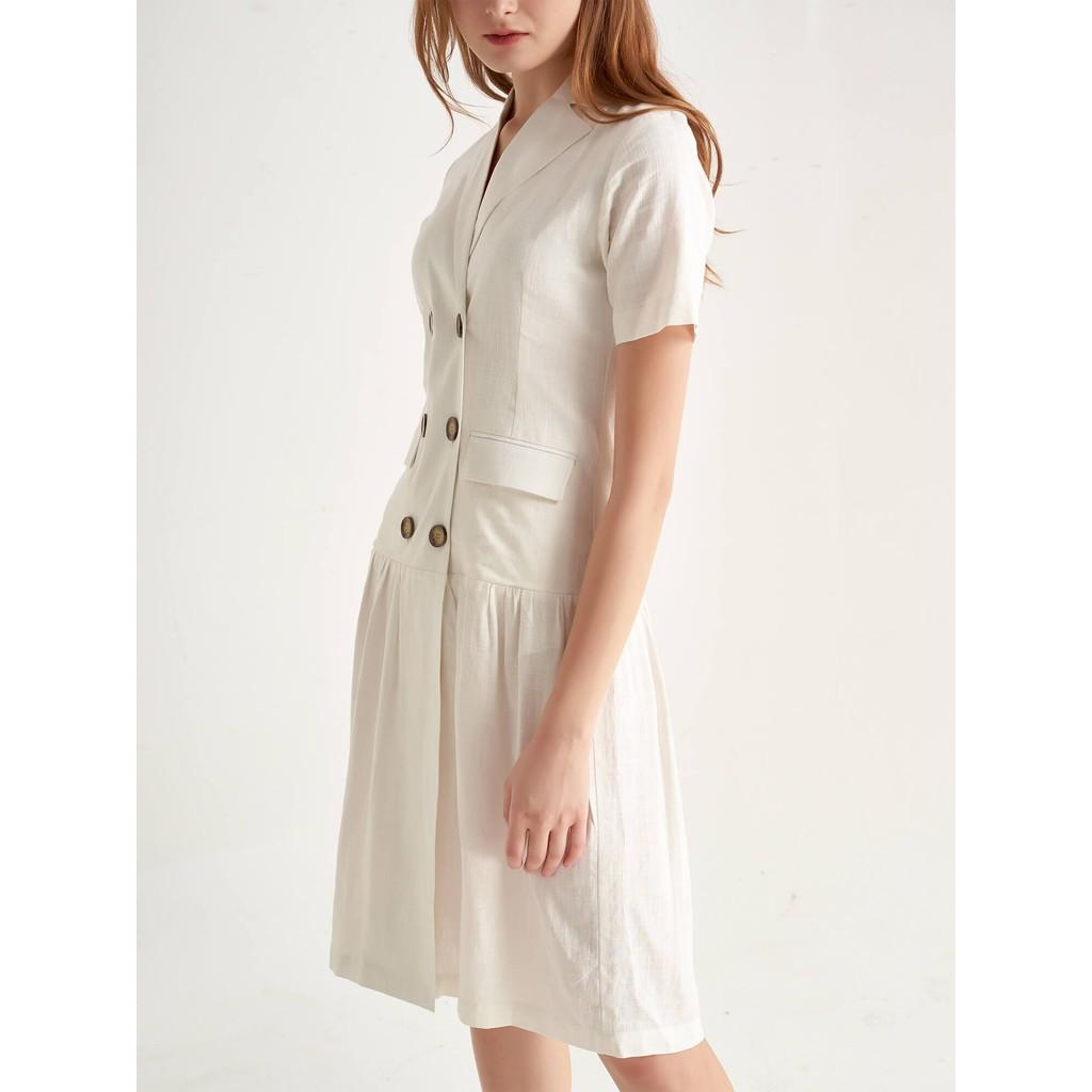 Đầm Giả Vest Trắng - YV LE