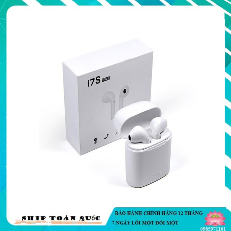 Tai nghe Bluetooth không dây i7s-I3-I99 loại 2 tai nghe kèm hộp sạc âm thanh cực hay