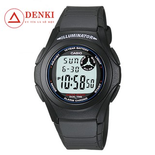 Đồng hồ điện tử nam dây nhựa Casio Standard chính hãng Anh Khuê F-200W-1ADF (F-200W-1ASDF)