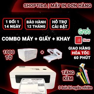 Máy in nhiệt Shoptida SP46 in đơn hàng TMĐT kèm khay và 1000 tờ giấy in nhiệt decal 10x15cm in đơn hàng, tem barcode thumbnail