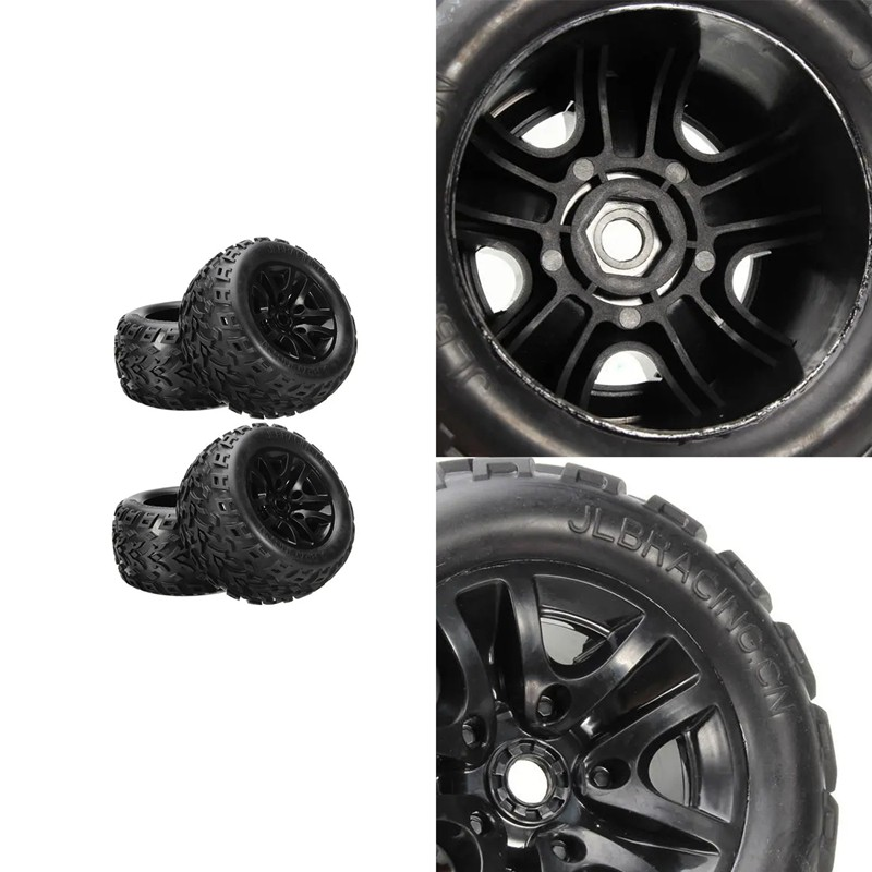 Bigfoot Wheel Tire Tyre EB1002 for JLB Racing CHEETAH 1/10 Brushless RC Car Parts Accessories,2 Pcs