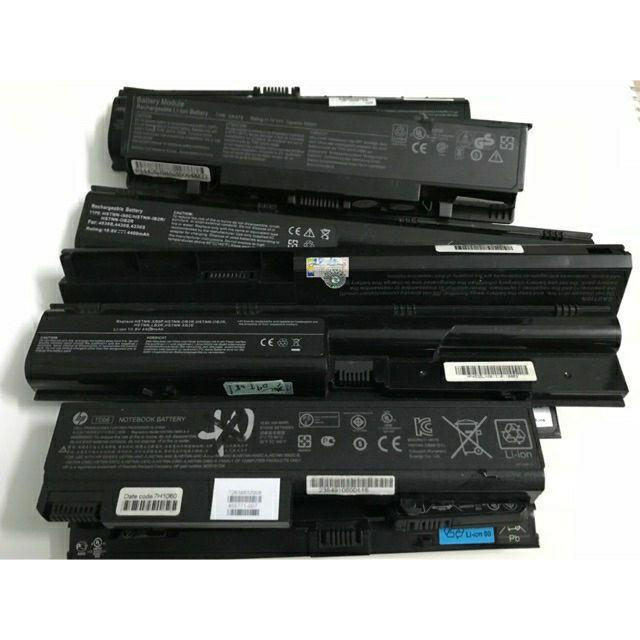 thanh pin laptop cũ loại (4cell_6cell _9 cell )hàng nguyên tem chưa vết cậy phá