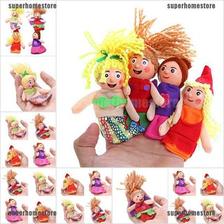 [COD]4 Pcs/set Little Mermaid Finger Puppets Doll Wooden Headed Baby Educational Toy