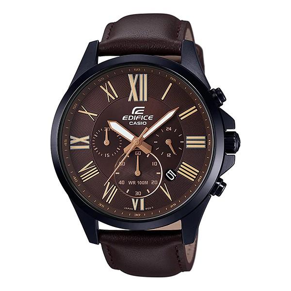 Đồng hồ nam dây da CASIO EDIFICE EFV-500BL-1AVUDF chính hãng
