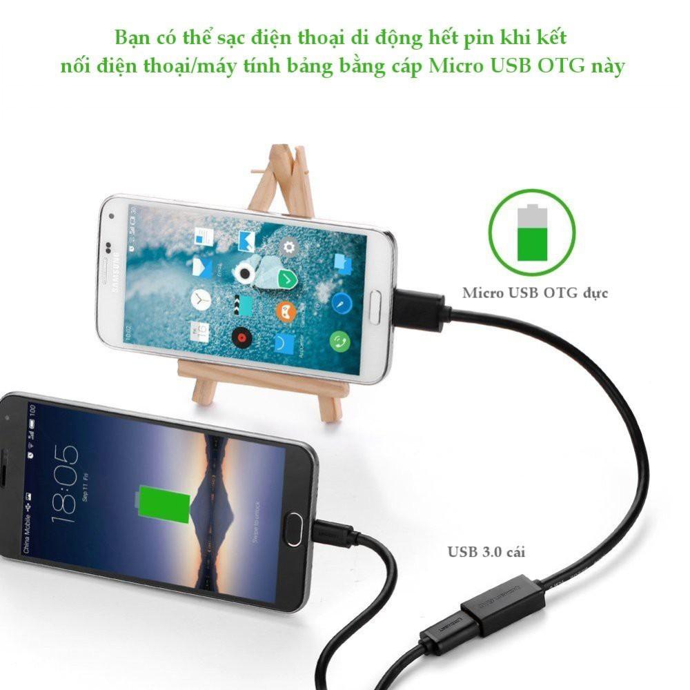 Dây Micro USB 3.0 OTG  dây tròn cho Samsung Note 3/S4/S6 Chính hãng