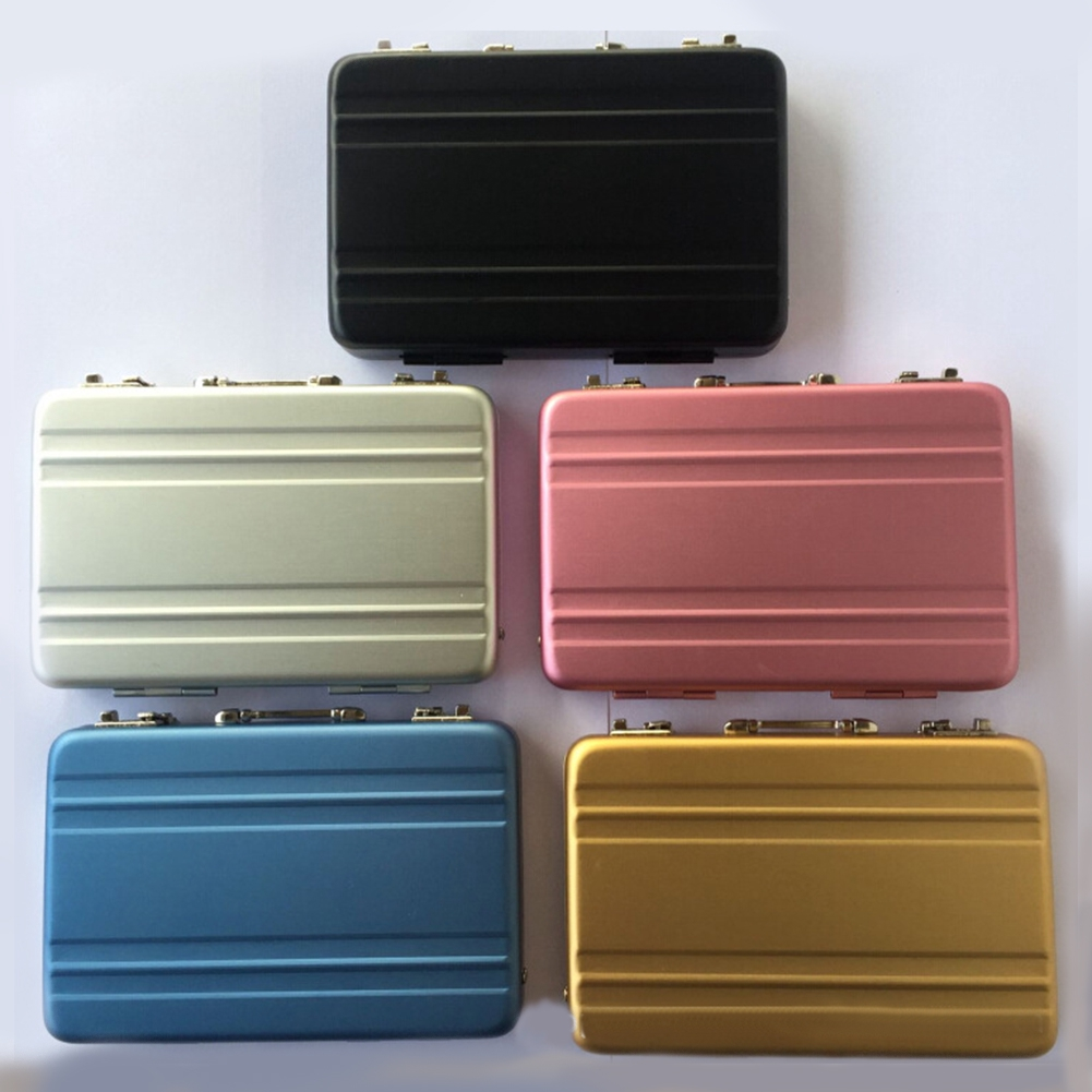 ID Credit Business Card Cases Holder Box Aluminum Password Suitcase Designs