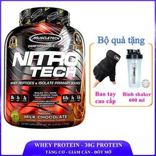 Sữa tăng cơ siêu mạnh NitroTech của MuscleTech hương Chocolate 1.8 kg 40 lần dùng - Nhập khẩu chính hãng thumbnail