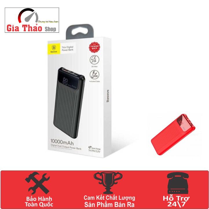 Pin Sạc Dự Phòng Power Bank 10,000mAh cho Smartphone-Tablet Baseus PPYZ-C-Hàng Nhập Khẩu Chính Hãng