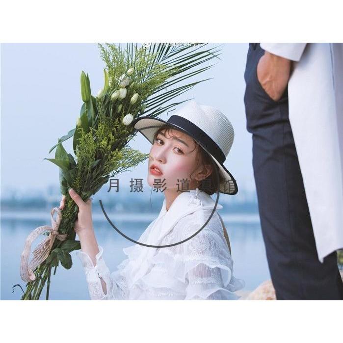 ty ถ่ายภาพอุปกรณ์ประกอบฉากงานแต่งงานภาพการเดินทางถนนหมวกฟาง