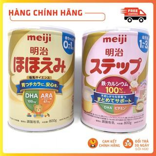 Sữa bột Meiji 800gr sữa lon Meiji số 0 và số 1 hàng Nhật nội địa mẫu mới Maneki thumbnail