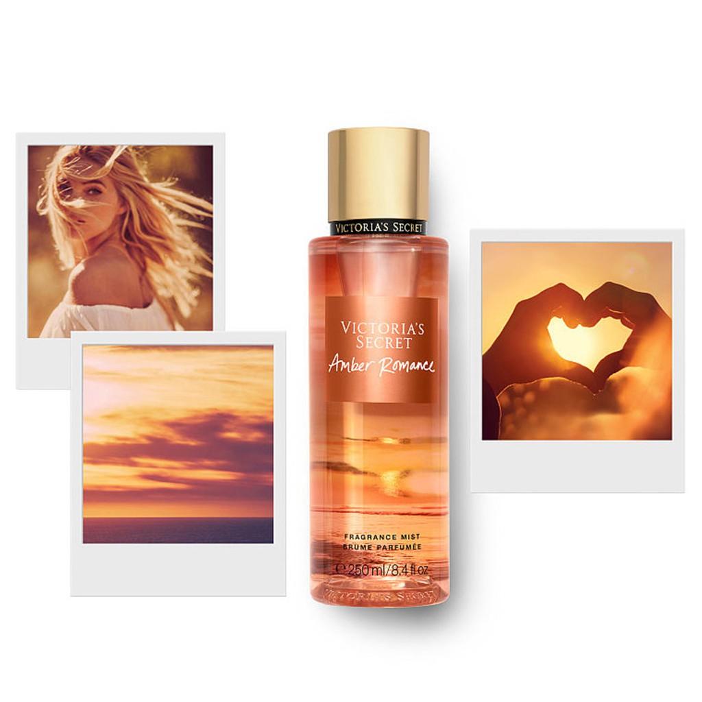 [ NEW ] [HOT] Mẫu Thử Xịt thơm toàn thân Victoria's Secret Fragrance- Amber Romance Shimmer - No Shimmer
