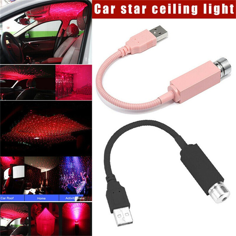 Đèn ánh sao bóng LED chiếu sáng gắn trần nhà trang trí nội thất xe ô tô