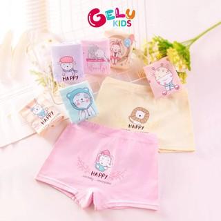 Quần chip bé gái GELU KIDS quần lót đùi cotton co giãn thoáng mát in hình đáng yêu - GLQA21 thumbnail