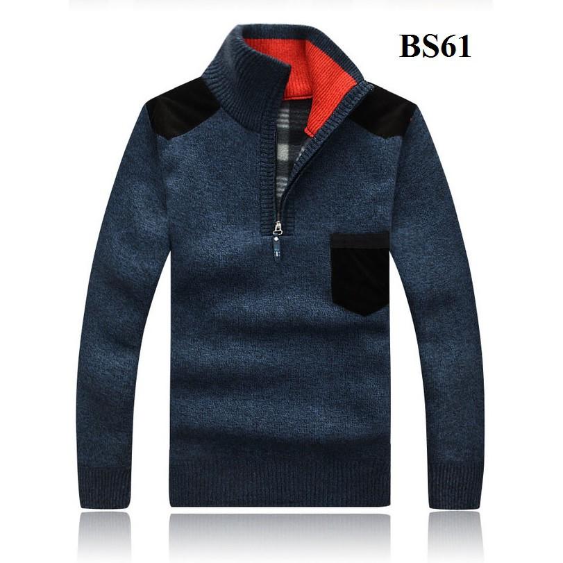 Áo len nam cổ cao lót nỉ BS61