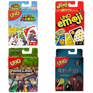 Super Mario / Harry Potter / Minecraft / Emoji / Dare! UNO Card Game for Children Adults Party Family Friends Game