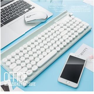 Bộ bàn phím và chuột không dây LT500 kèm nút vặn tăng giảm âm lượng phiên bản sạc pin dùng cho văn phòng, laptop,.. – NK