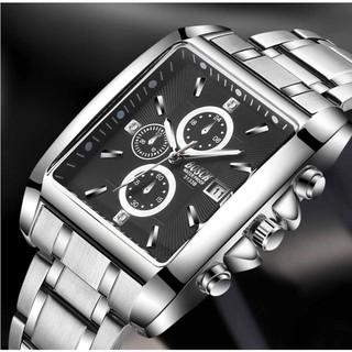 [Mã FASHIONRN15 hoàn ngay 15k xu đơn từ 99k] Đồng hồ nam BOSCK B0S04 mặt vuông Thu Hút Vạn Ánh Nhìn thumbnail