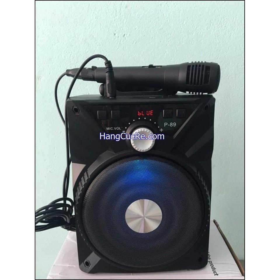 [Tặng micro] Loa bluetooth karaoke di động tặng kèm micro