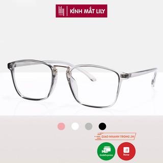 Gọng kính cận vuông nam nữ chất liệu nhựa dẻo phụ kiện thời trang  Lilyeyewear 210 nhiều màu