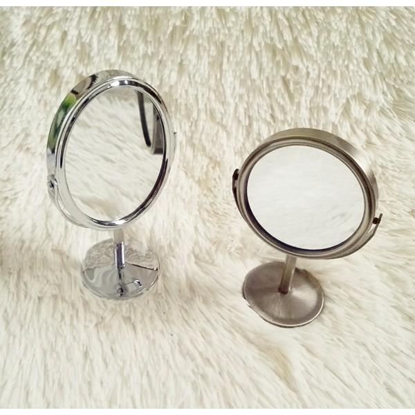 Gương inox 2 mặt để bàn
