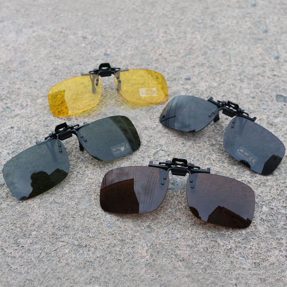 Kẹp kính mát phân cực tròng vuông bảo vệ mắt lái xe ban đêm chất lượng