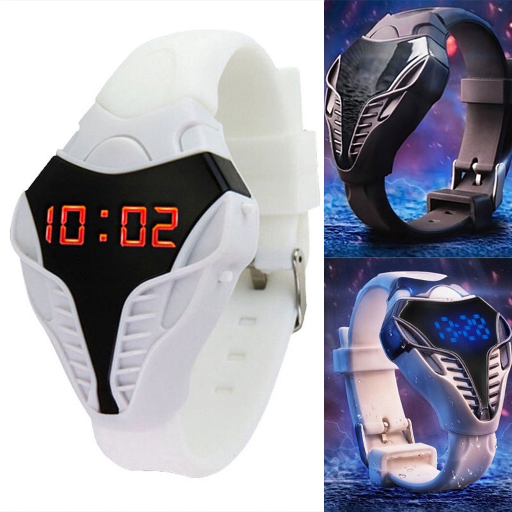 Gift Fashion Electronic Led Triangle Dial Valentine's Day Silicone Band Children Sport Unisex Digital Watch