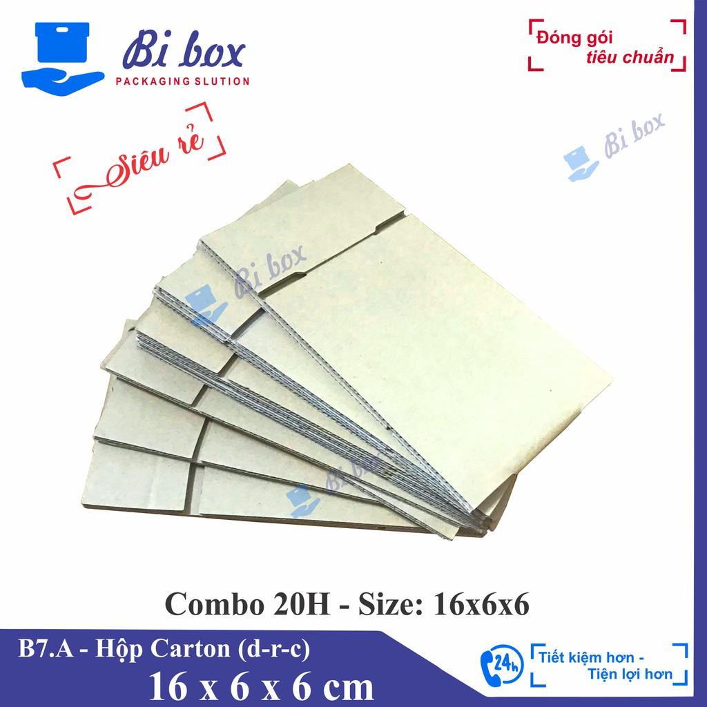 Combo 20 hộp giấy 16x6x6 - thùng hộp carton đóng hàng