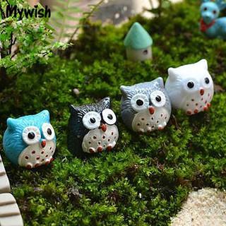 ⛄🌟2Pcs Lovely Owl Bonsai Decoration Resin Crafts