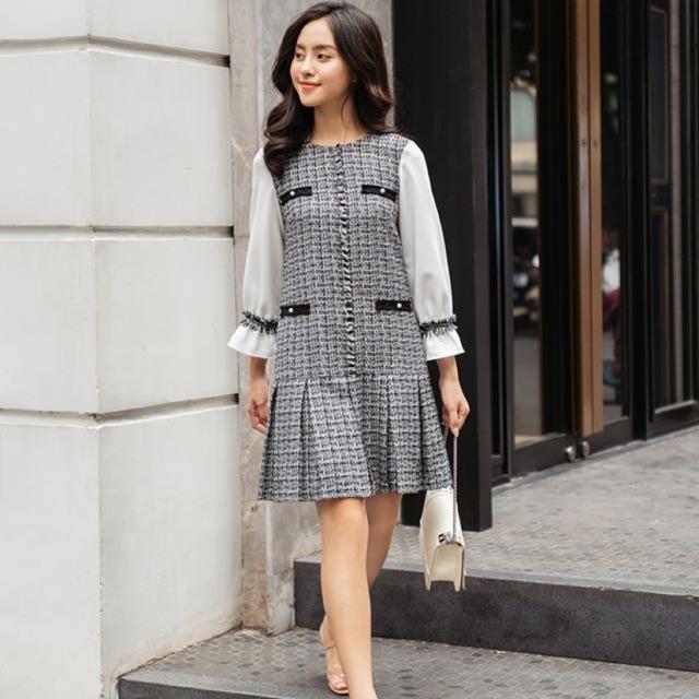 BEAUTYBYV - Pass váy Mochi tweed