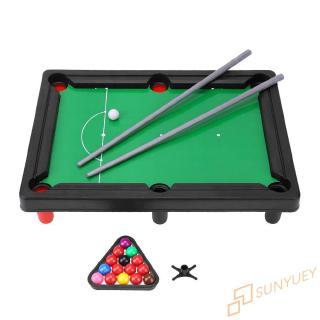 Su~ Children Kids Mini Billiards Snooker Table Desktop Indoors Family Playing Interactive Games Toy