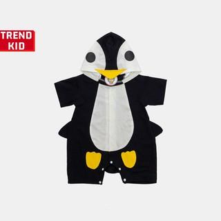 [Mã TREND20 giảm 15% đơn 99K] Body thú cho trẻ sơ sinh hình Chim cánh cụt Michley