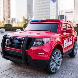 Ô tô điện trẻ em YH-811 (mô hình xe cảnh sát. màu sắc : Đỏ + Đen).