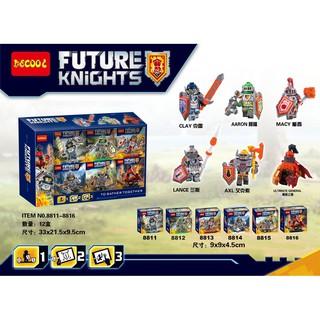 Đồ chơi lắp ráp lego nexo knights decool 8811-8816 trọn bộ 6 hộp.