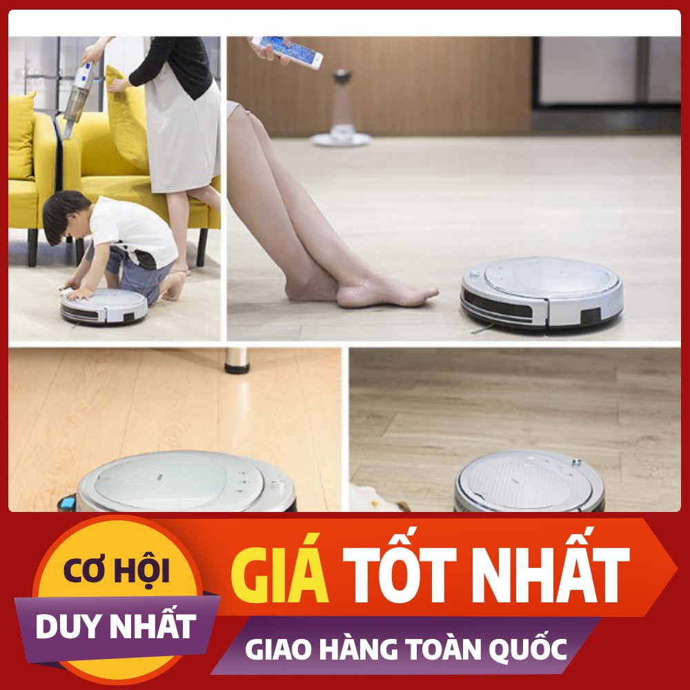 [SaleOff]  Robot hút bụi lau nhà Haier TAB-T550WSC + Máy hút bụi cầm tay .