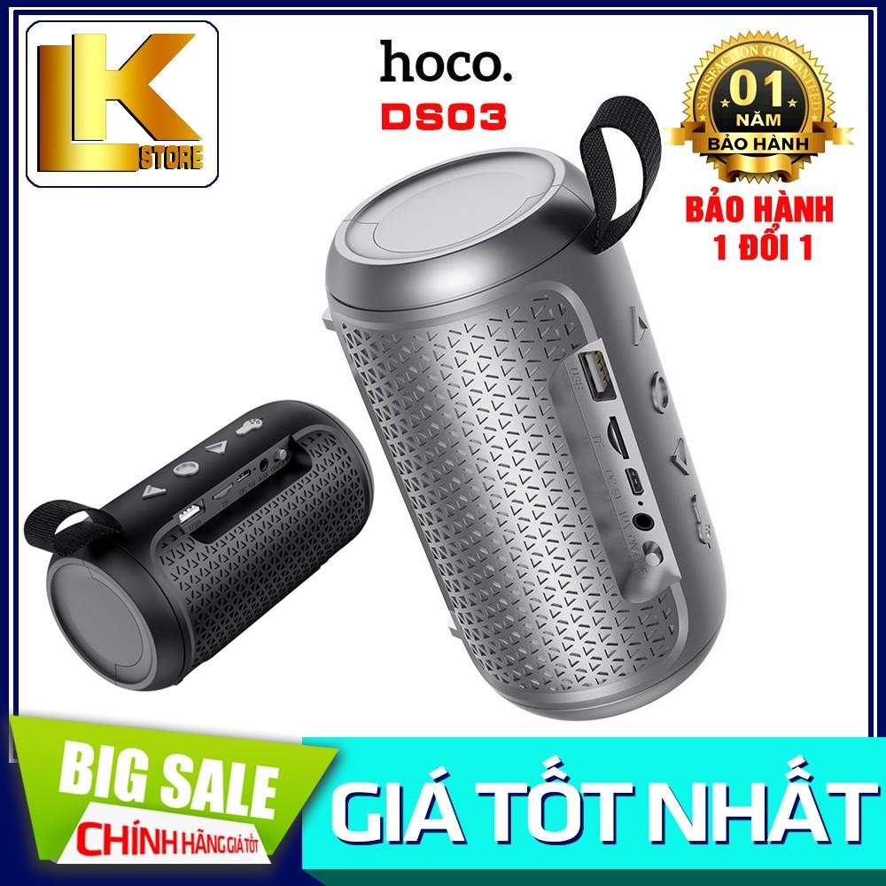 🌟CHÍNH HÃNG🌟Loa Nghe Nhạc Bluetooth Hoco DS03 V5.0 - Nghe USB, TF, AUX, Tích Hợp Đèn Pin Mini {BẢO HÀNH 12 THÁNG}