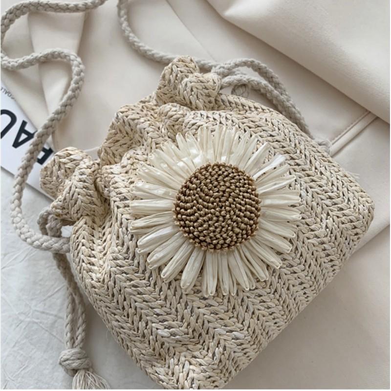 Túi Cói Rút Miệng hoa hướng dương