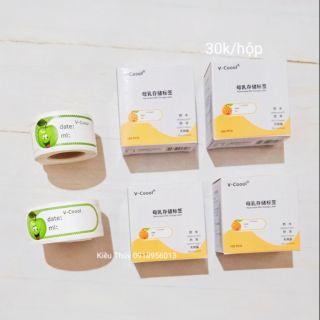 Nhãn dán túi trữ sữa V-coool