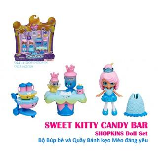 [Hộp] Bộ Quầy Bánh kẹo Mèo xinh kèm Búp bê Royal Trend – Đồ chơi Shopkins VNXK