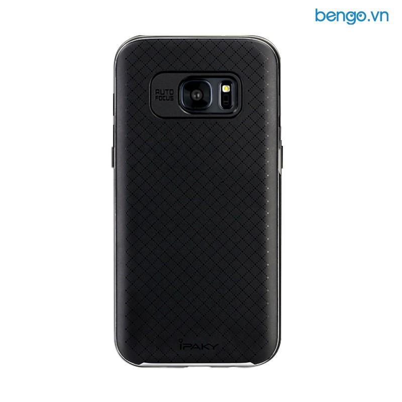 Ốp lưng Samsung Galaxy S7 edge dẻo viền nhựa cứng hiệu IPAKY