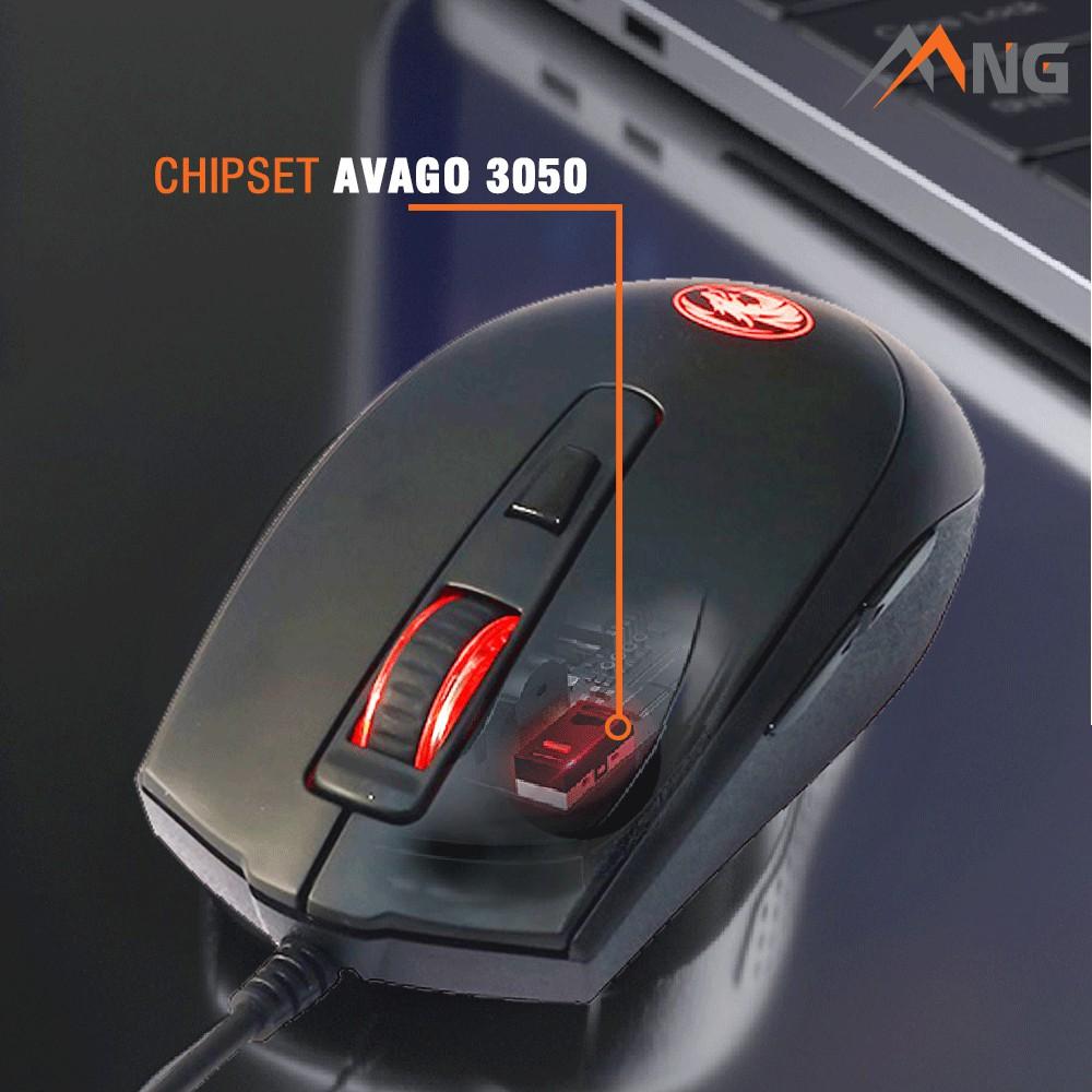 Chuột Gaming E-DRA EM614 Độ Phân Giải 4000 DPI Đèn Led Có Dây Bảo hành 24 tháng