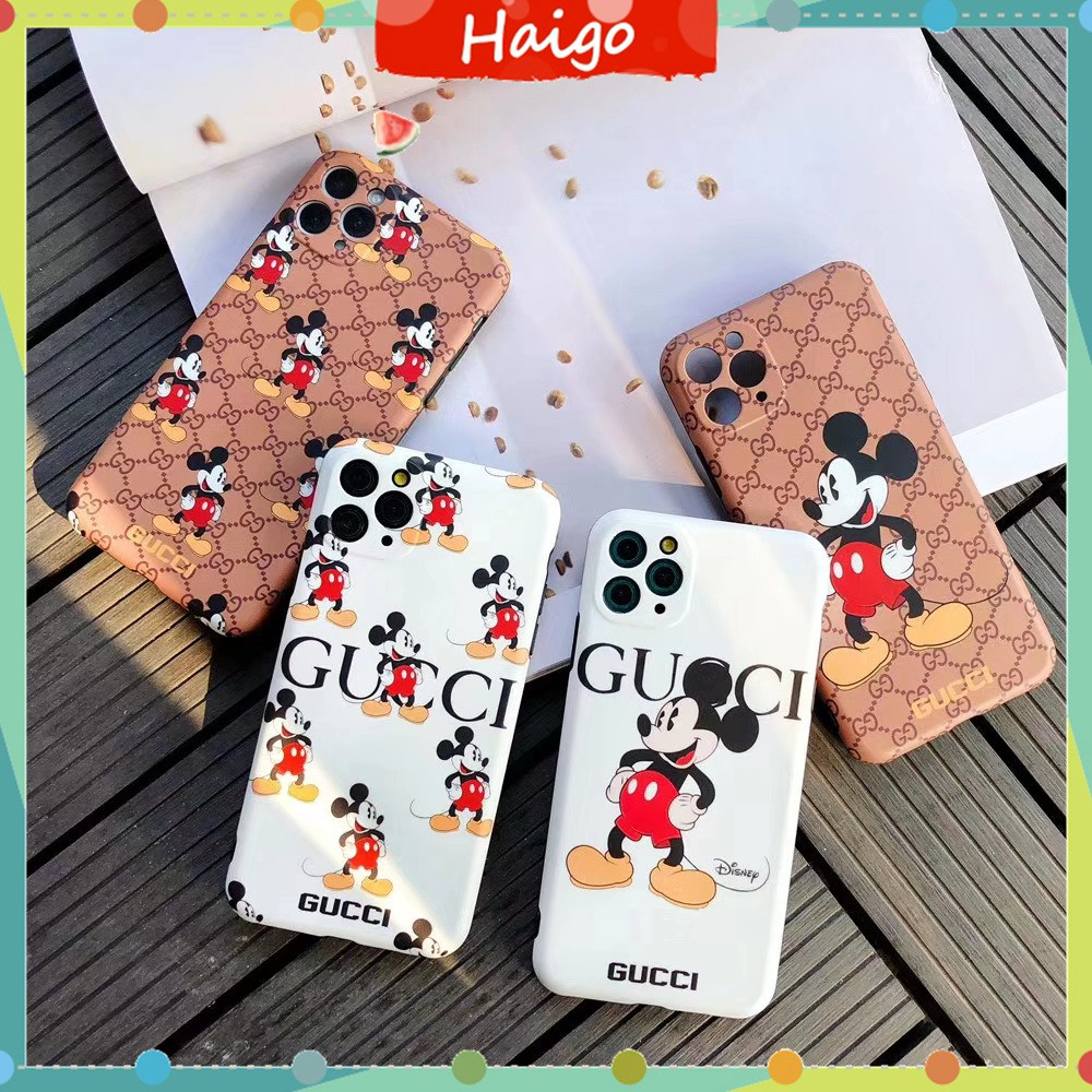 Soft Plastic Phone Cases Fashion style Mickey Case suitable for iPhone11 PRO MAX 6/6s 7/8plus X/XS XR XSMAX #HG1138